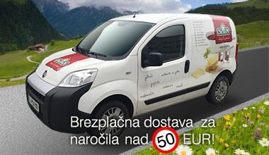 Brezplačna dostava nad 50 EUR